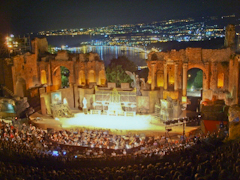 A performance at the Teatro Antico of Taormina