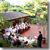 Dinner at the Villa Rosa in Boscrotondo, a hotel in the Chianti hills of Tuscany near Florence