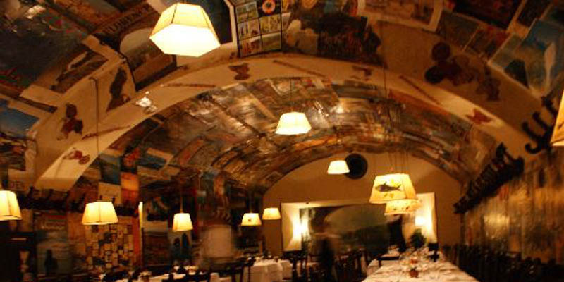 Buca Lapi restaurant in Florence, Italy. (Photo by subtarget)
