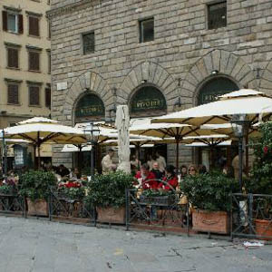 Caffe Rivoire in Florence