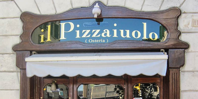 Il Pizzaiuolo restaurant in Florence, Italy. (Photo by aubordulac)