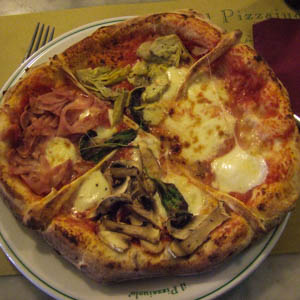 A pizza at Il Pizzaiuolo restaurant in Florence, Italy. (Photo by pinklady6647)
