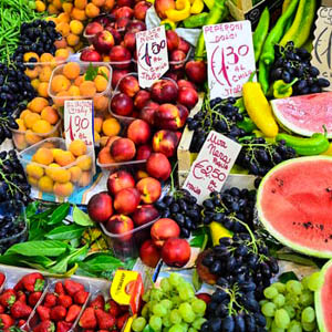 Produce at the market in Florence