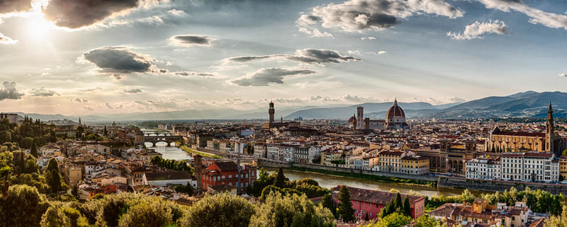 A view of Florence from Piazzale Michelangelo. (Photo by Shane Lin)