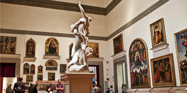 Giambologna's Rape of the Sabines and various paintings in Florence's Accademia Gallery