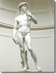 Michelangelo's David in the Accademia