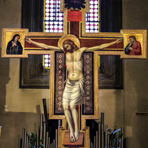 Giotto's Crucifixion in the church of San Felice, Florence. (Photo by Sailko)