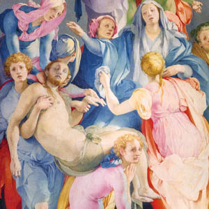 A detail from Pontormo's Descent from the Cross (1526–28) in the church of Santa Felicita, Florence.