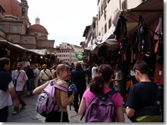 The Florence leather market