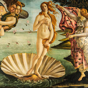 Botticelli's Birth of Venus in the Uffizi Galleries