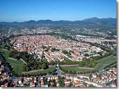 Lucca seen from the air