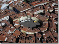 Piazza Anfiteatro in Lucca, Tuscany