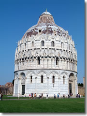 The baptistery in Pisa