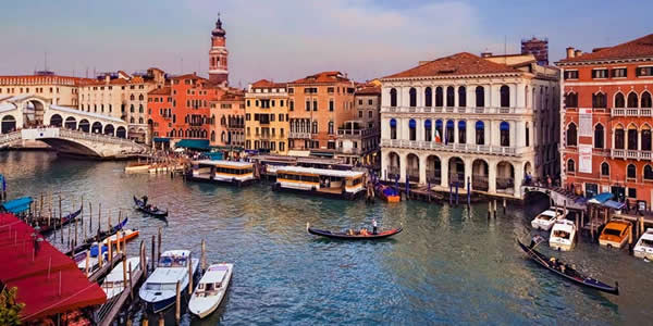 The view from the Hotel Antica Locanda Sturion in Venice, Italy