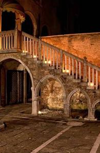 Courtyard At The Palazzo Contarini Della Porta Di Ferro Apartments In Venice
