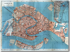 A 1913 map of Venice