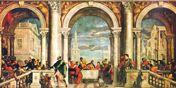 Paolo Veronese's Feast in the House of Levi (1573) in the Accademia Galleries of Venice