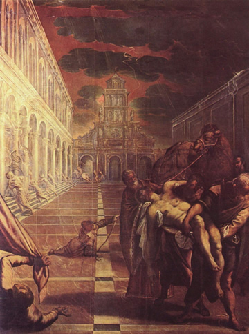 The Stealing of St. Mark by Jacopo Tintoretto in Venice's Accademia Galleries