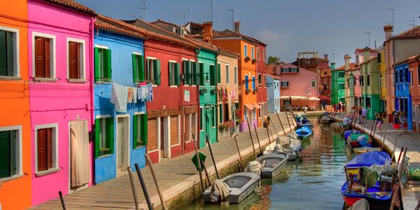 The colorful houses of Burano