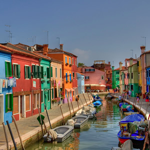 The colorful island of Burano