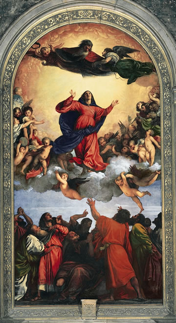 Titian's Assumption of the Virgin (1518) in the Frari, Venice.