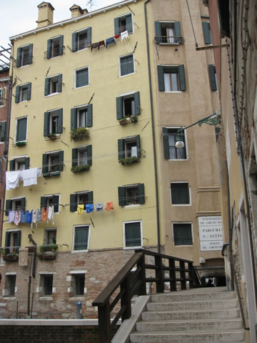 The Jewish Ghetto is home to the only medieval skyscrapers in Venice.
