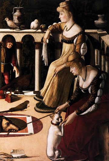 Two Venetian Ladies / The Courtesans) (1490-1510) by Vittore Carpaccio in the Museo Civico Correr of Venice