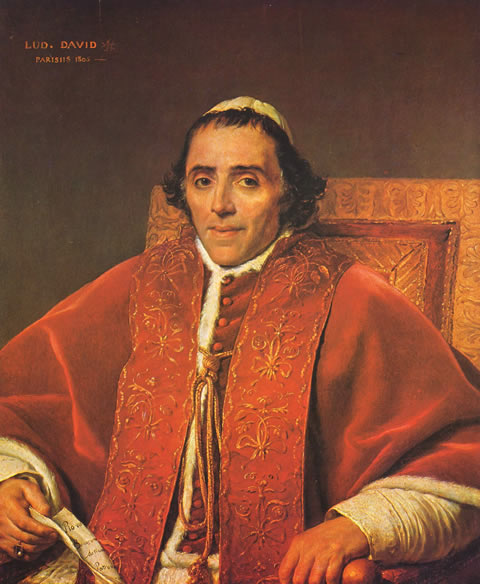 Pope Pius VII (1805) by Jacque-Louis David