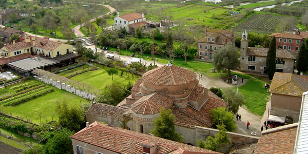 A view of Torcello from the cathedral belltower